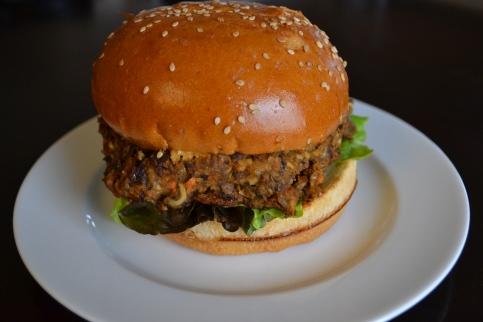 Ripe's Black Bean Veggie Burger